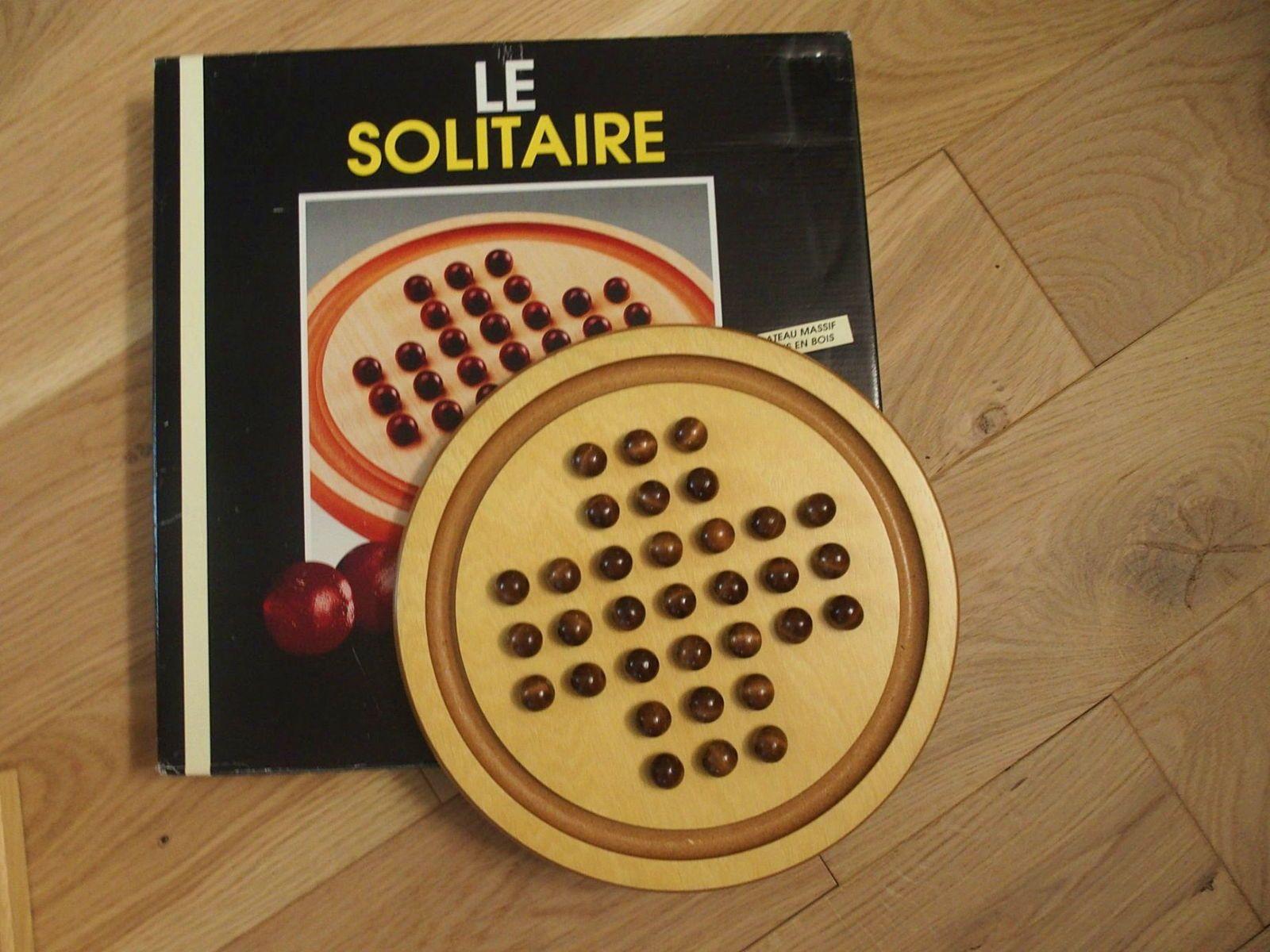 """Jeu """"solitaire"""" en bois"""