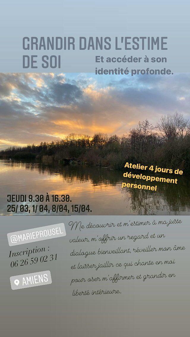 """Stage de 4jours: """"Grandir dans l'estime de soi"""" - Amiens (80000)"""