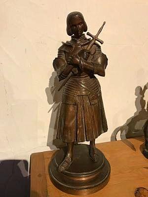 Statue bronze Ste Jeanne d'Arc
