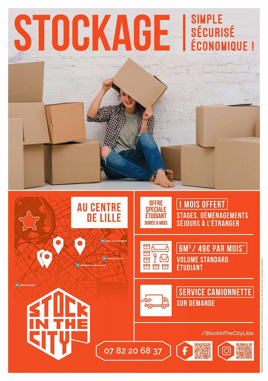 Stock in the City propose le stockage de vos meubles près de chez vous au centre de Lille!
