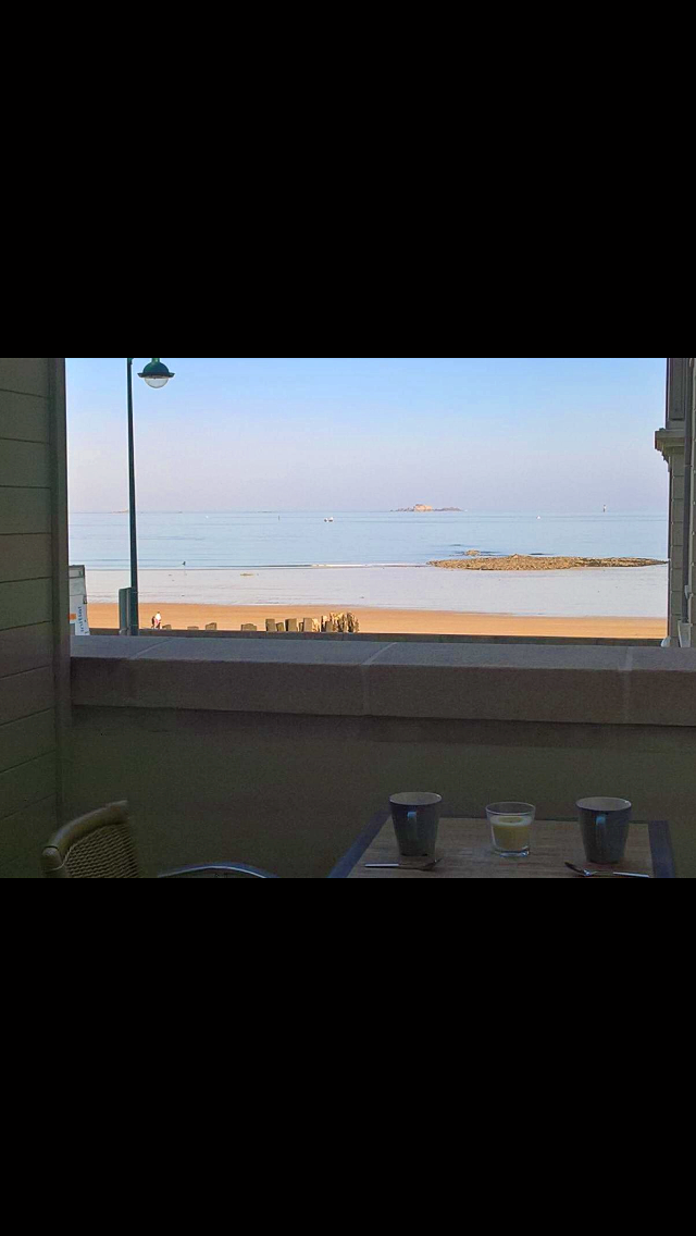 Loue studio vue mer sur le sillon - 2couchages - Saint Malo (35)