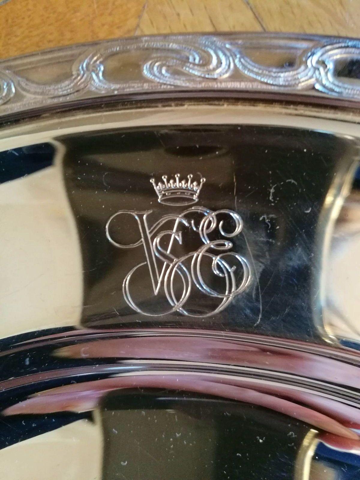 Superbe plat en métal argenté Ercuis du fameux Orient Express