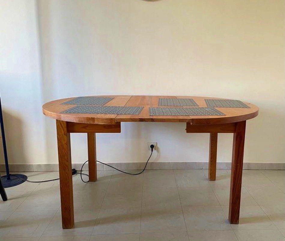 Table en bois avec rallonge
