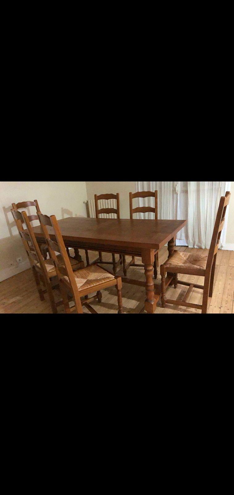Table de salle à manger + 6chaises