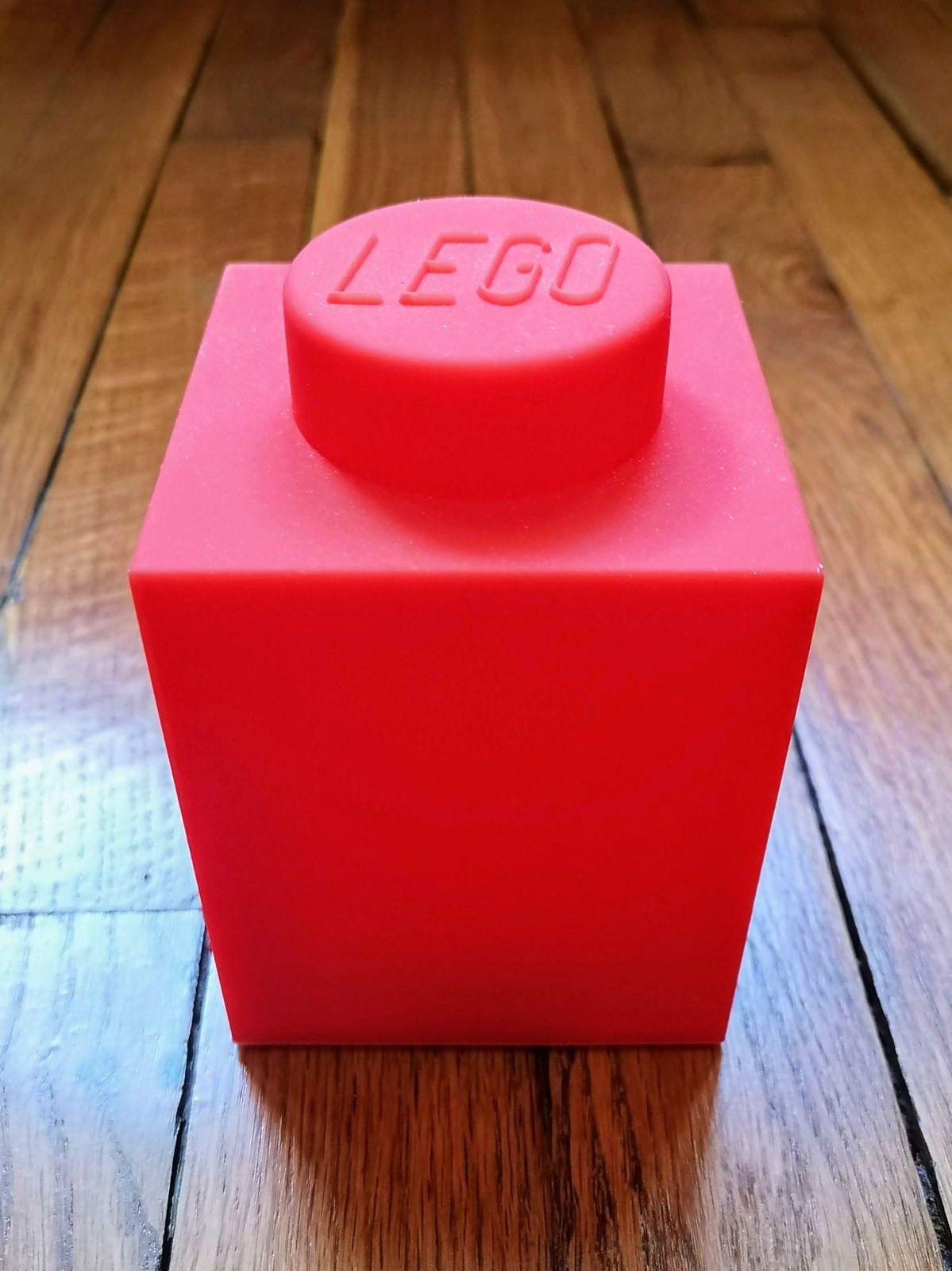 Veilleuse enfant LEGO LEDLITE silicone rouge