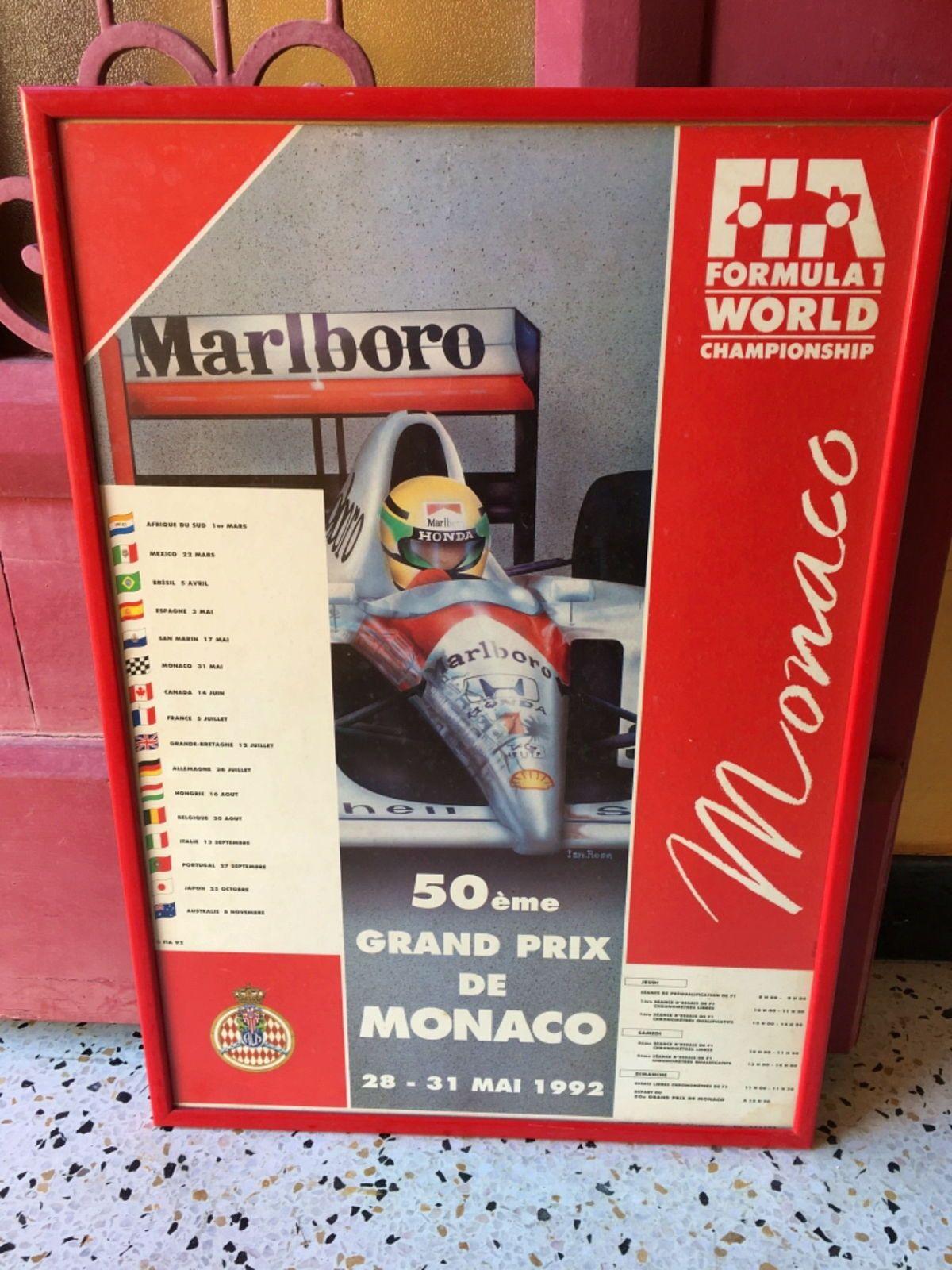 Vends affiche originale 50ème Grand Prix de Monaco