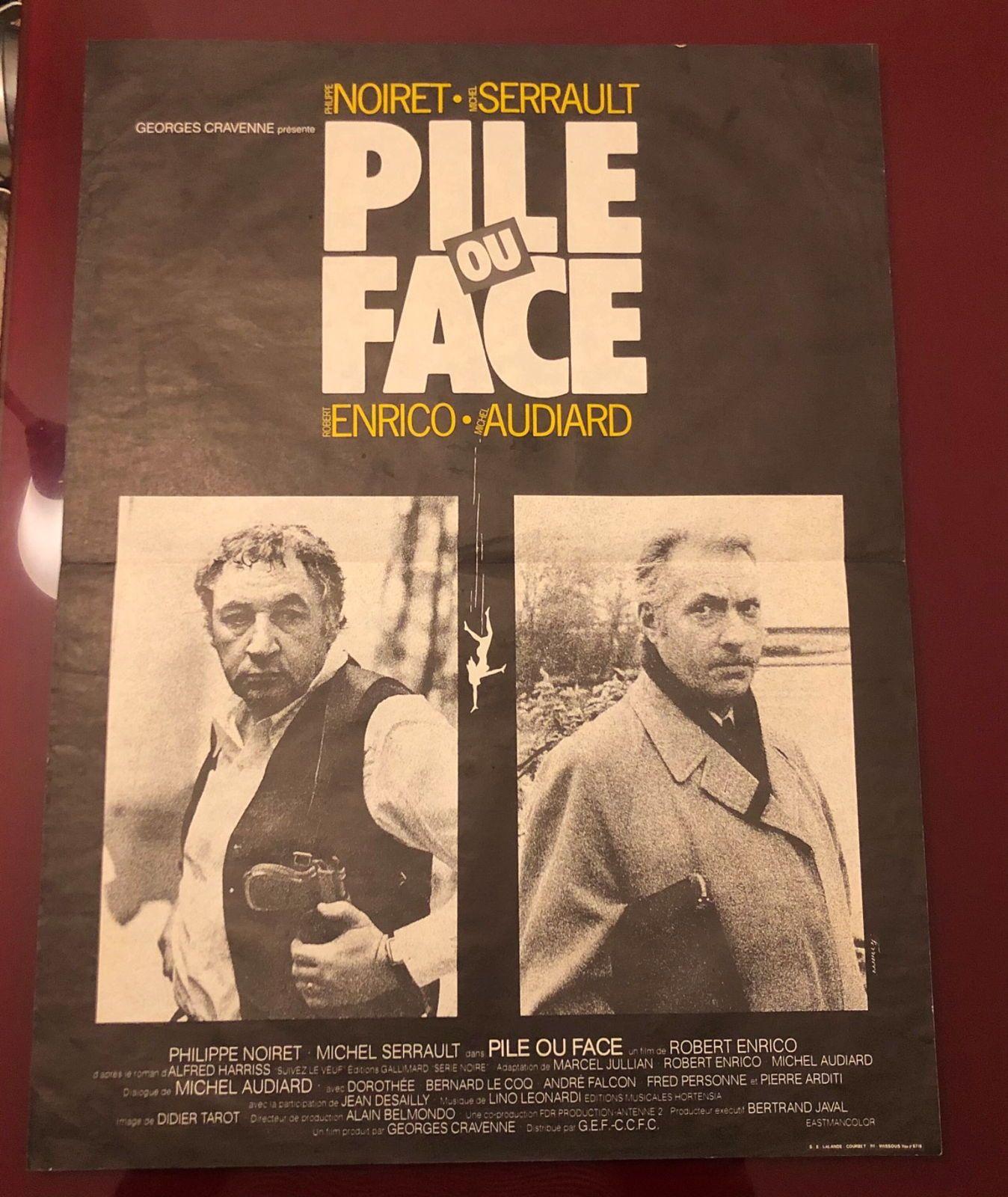 Vends ancienne affiche «Pile ou Face»