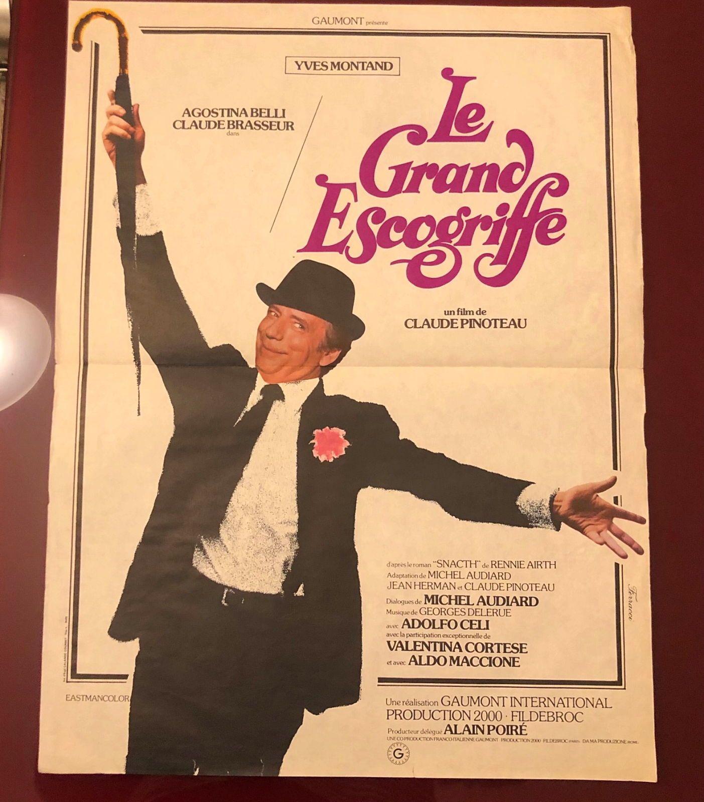 Vends ancienne affiche «Le Grand Escogriffe»