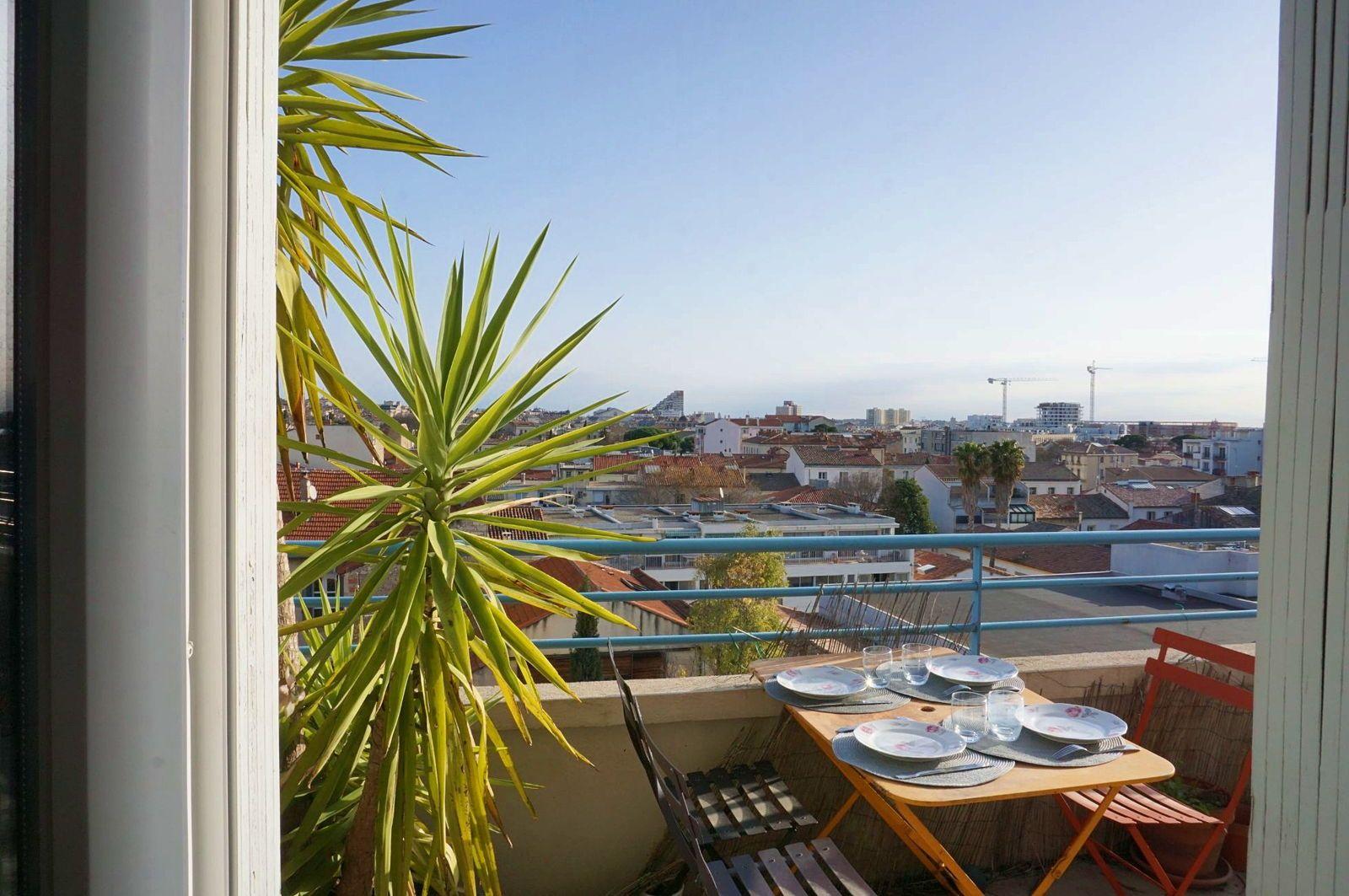 Vends appartement d'architectes 110m², Montpellier, Clémenceau/Chaptal - 3chambres