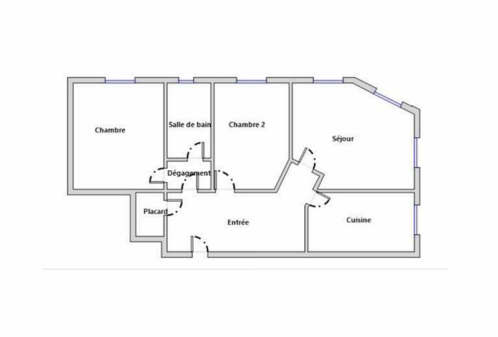 Vends Appartement 70m² Asnières (92) - bac bourguignons
