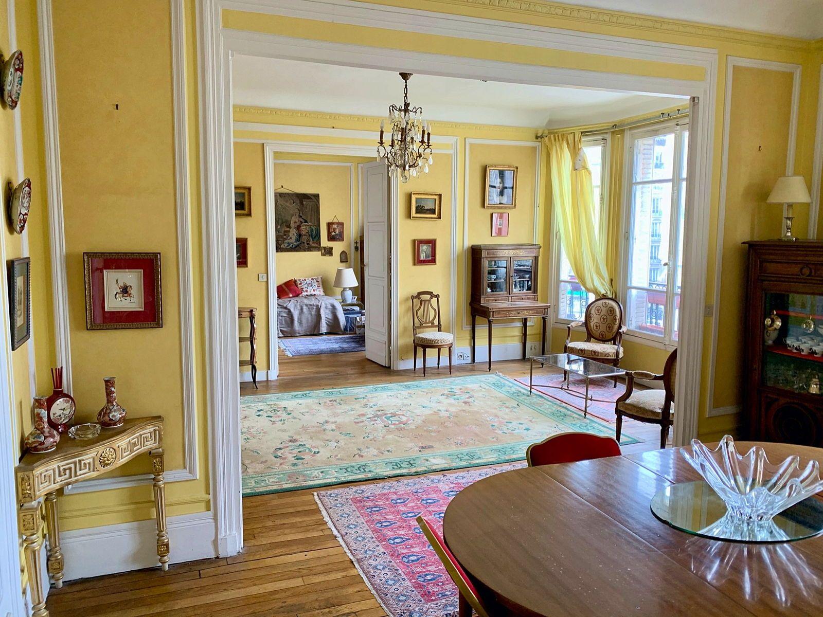 Vends appartement 5Pièces 118m² + service et cave à Paris 17ème