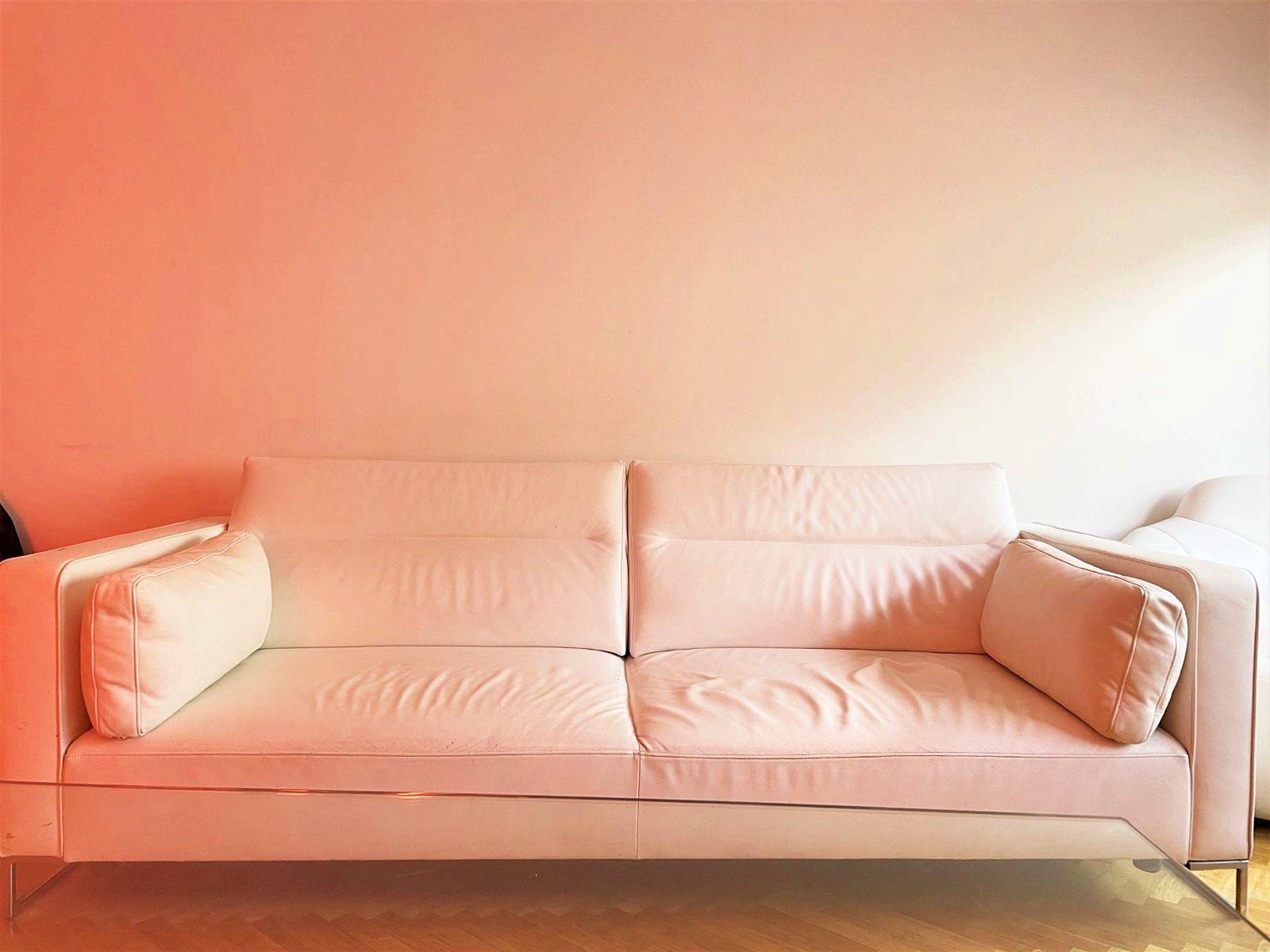 Vends canapé en cuir blanc URBANI