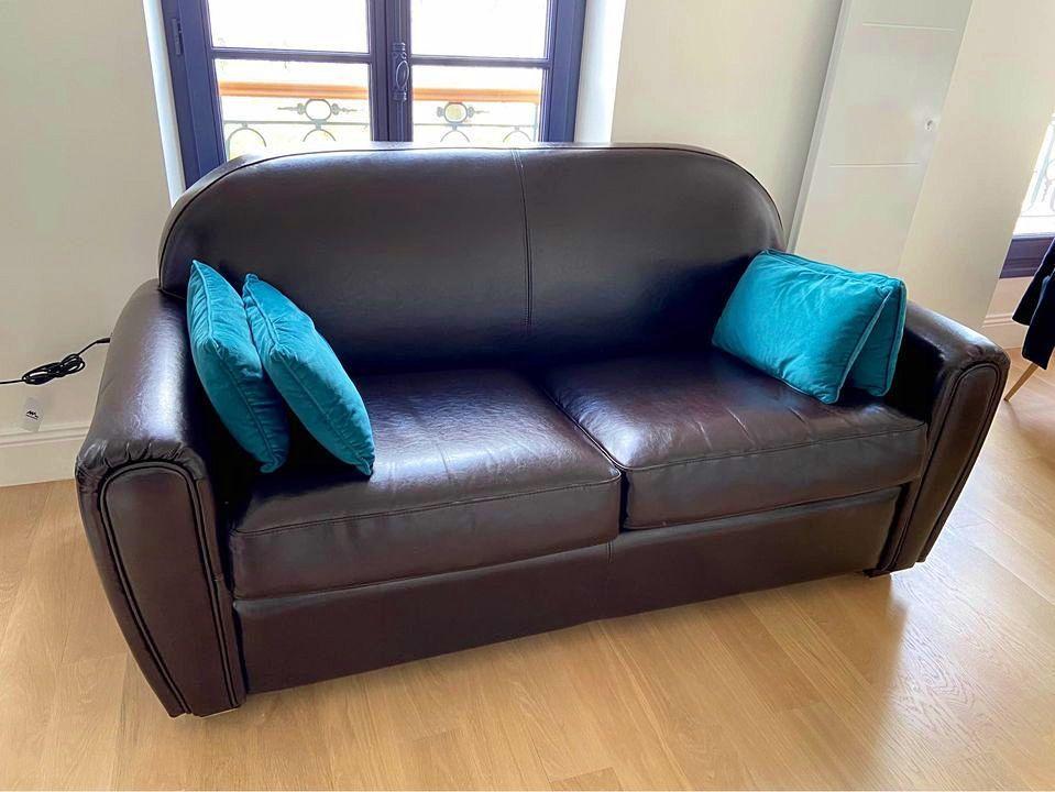 Vends canapé convertible en cuir