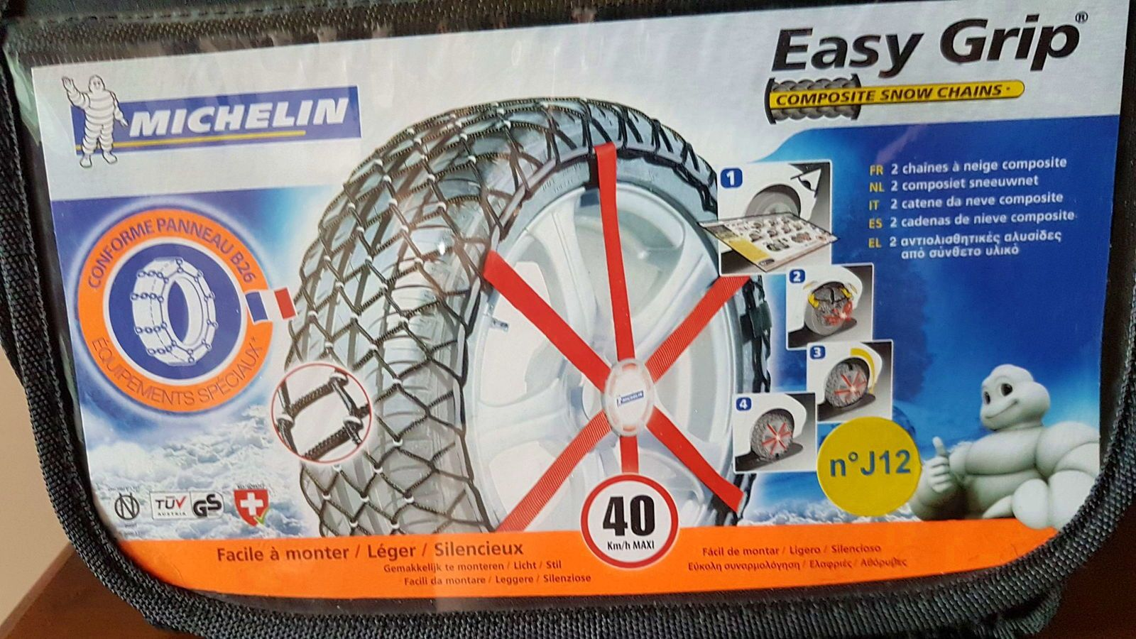 Vends CHAINE NEIGE - N° J 12- Easy Grip Michelin
