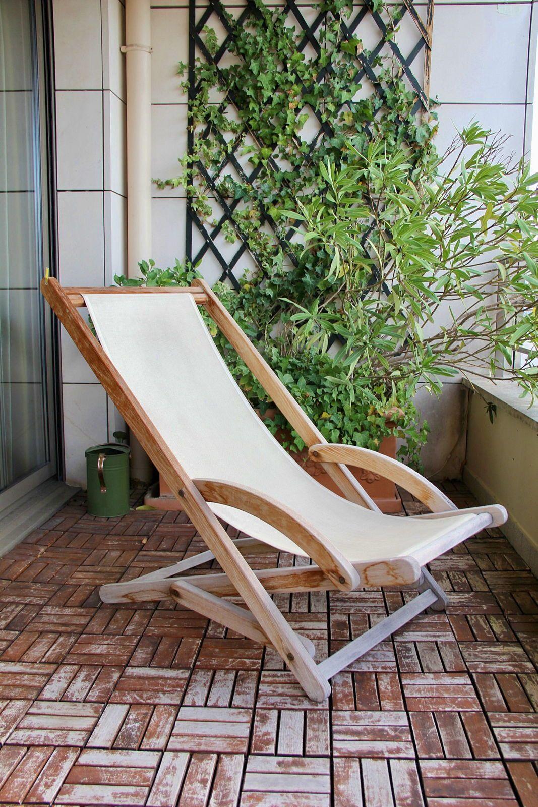 Vends Chaise longue teck – Les Jardins Au Bout du Monde