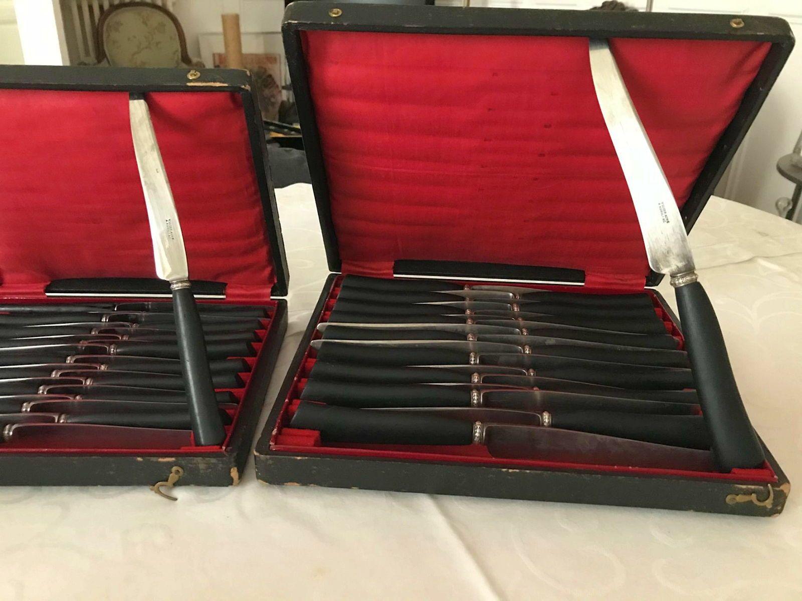 Vends couteaux anciens dans coffrets d'origine VIGIER AINE AURILLAC