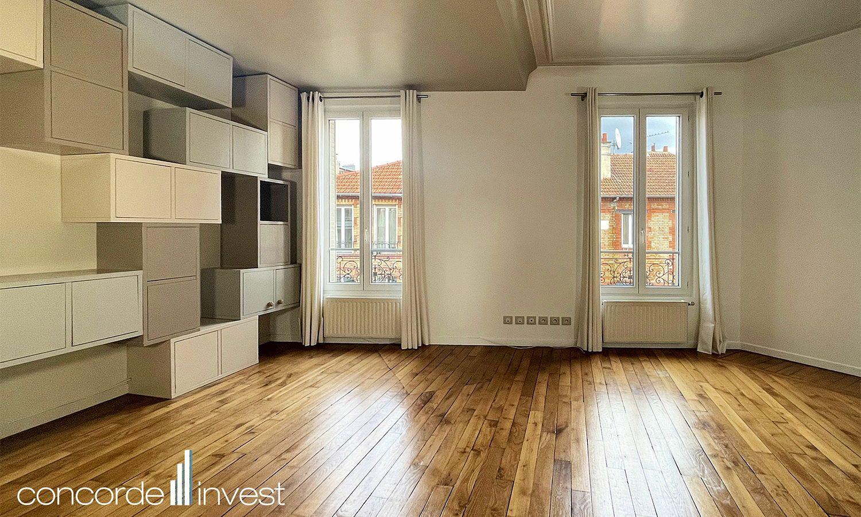 Vends Duplex lumineux 2chambres 90m², Asnières-sur-Seine (92)