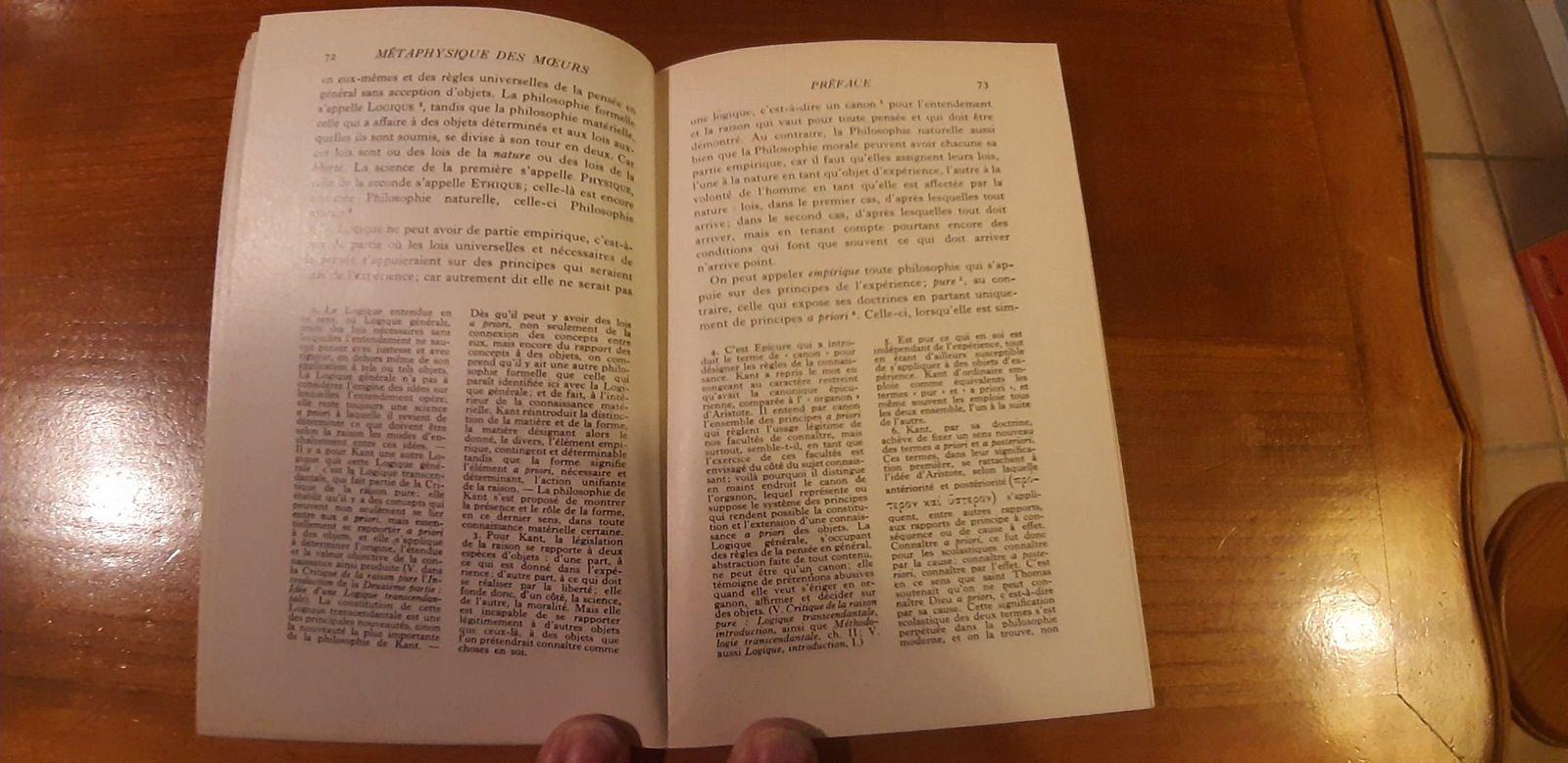 Vends Livre de philo Kant 1962fondements de la métaphysique des mœurs