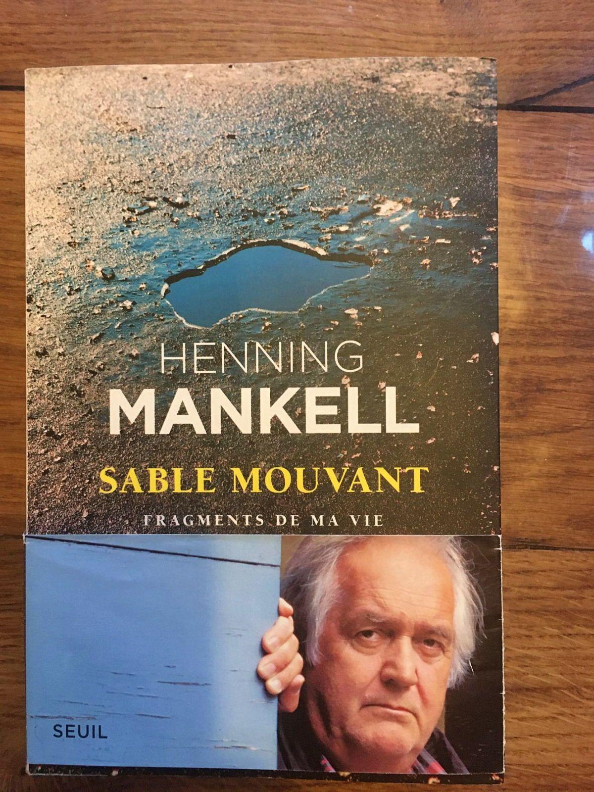 Vends livre Sable mouvant Fragments de ma vie, Henning Mankell