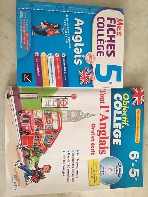 Vends livrets parascolaires d'anglais niveau 5ème