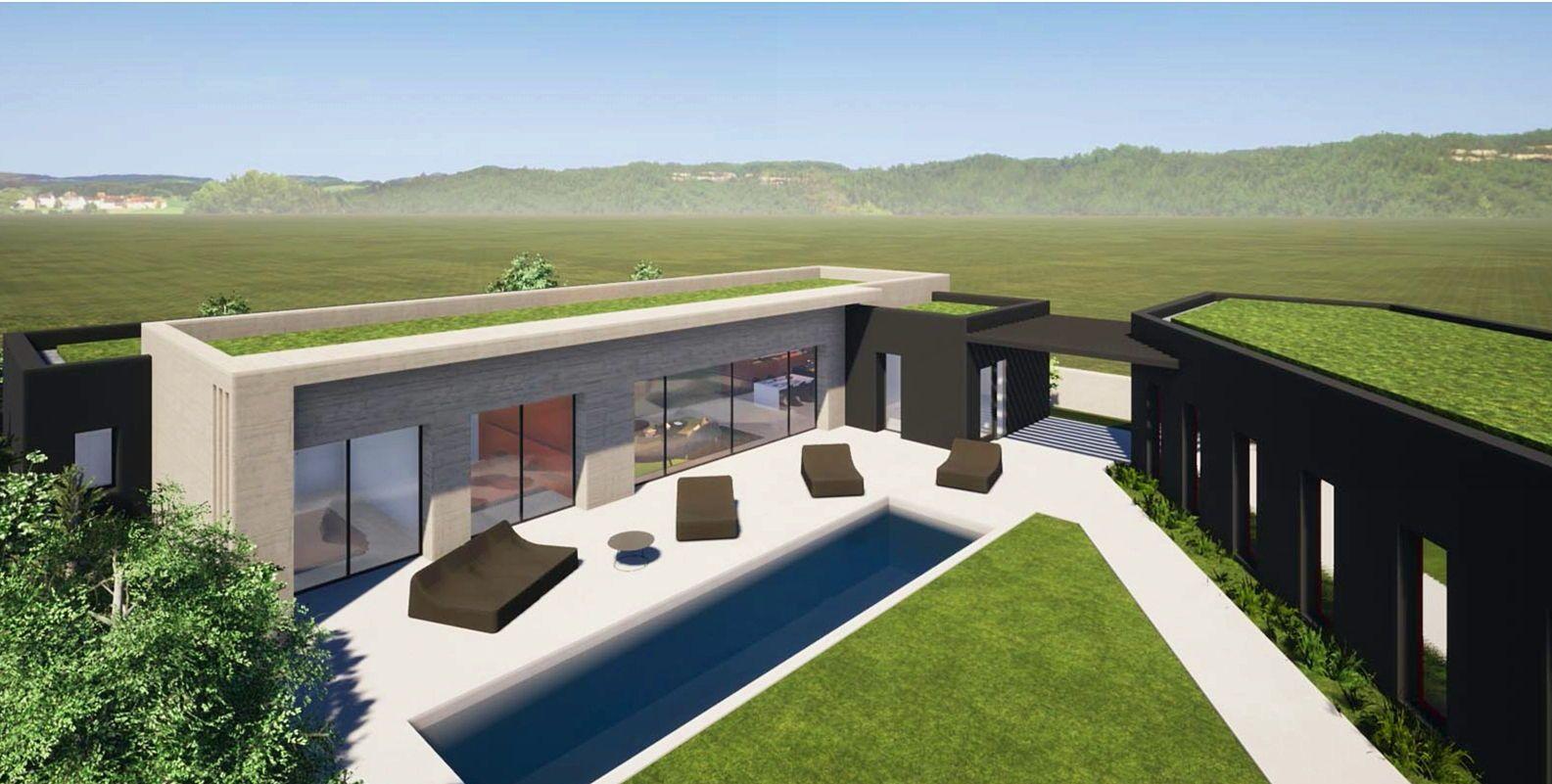 Vends maison d'archi T5200m,T2de 55m,pisc chauffée,domotique