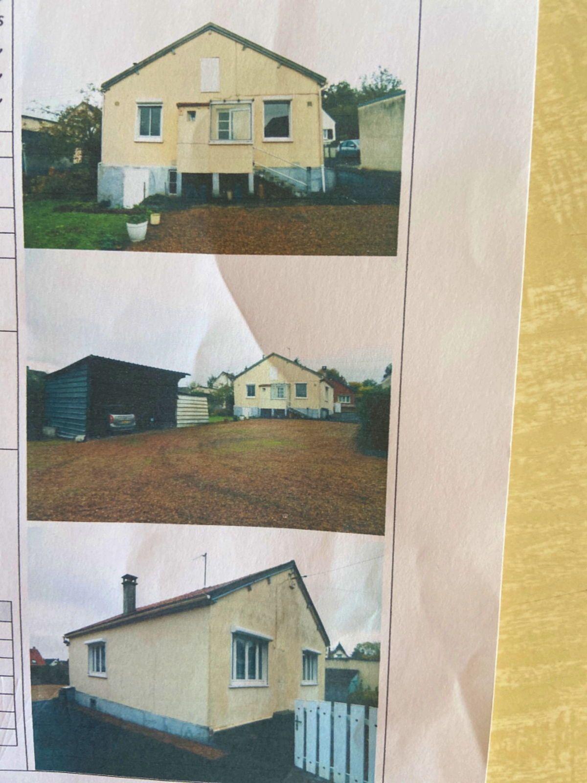 Vends maison 2chambres 80m² avec terrain de 800m², Beauvais (60)