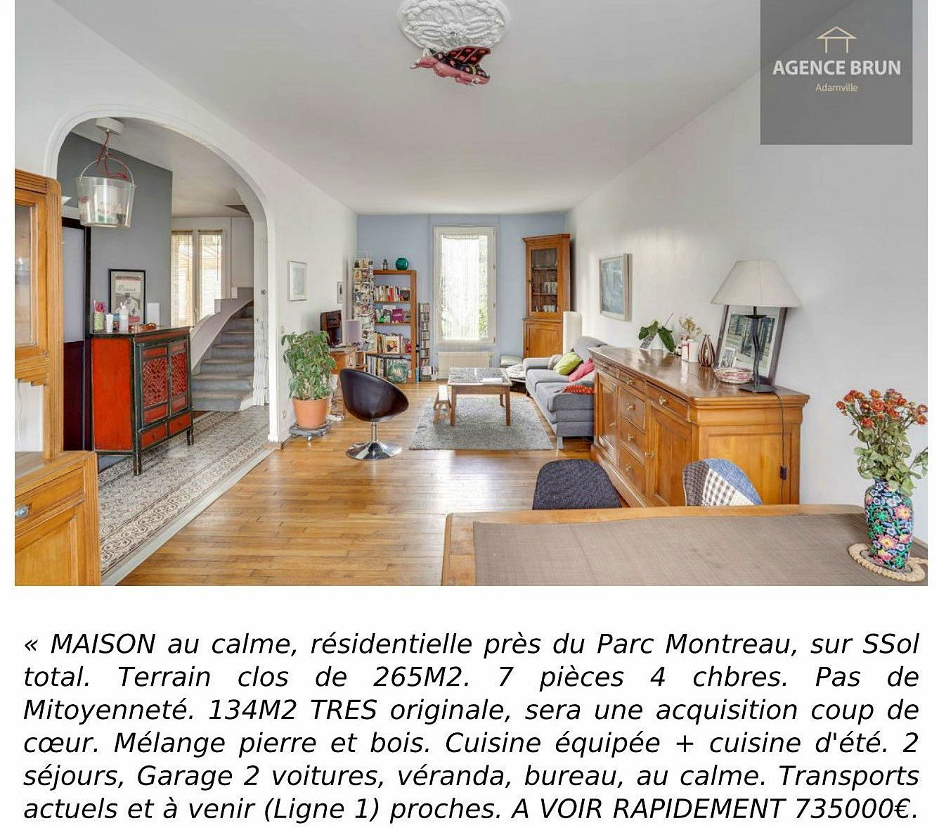 Vends MAISON 134m² - Montreuil (93)
