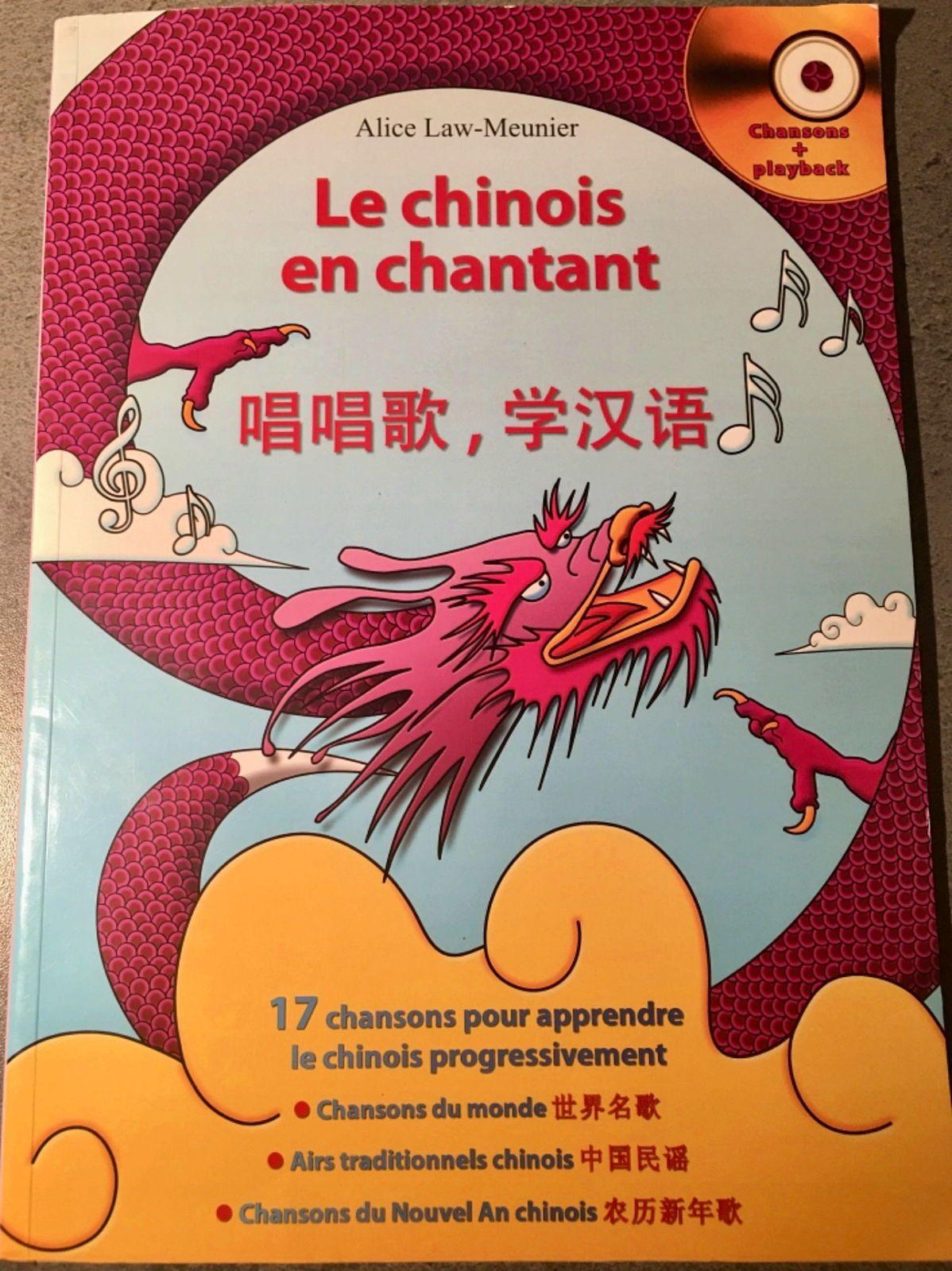 Vends manuel Le chinois en chantant Alice Law-Meunier