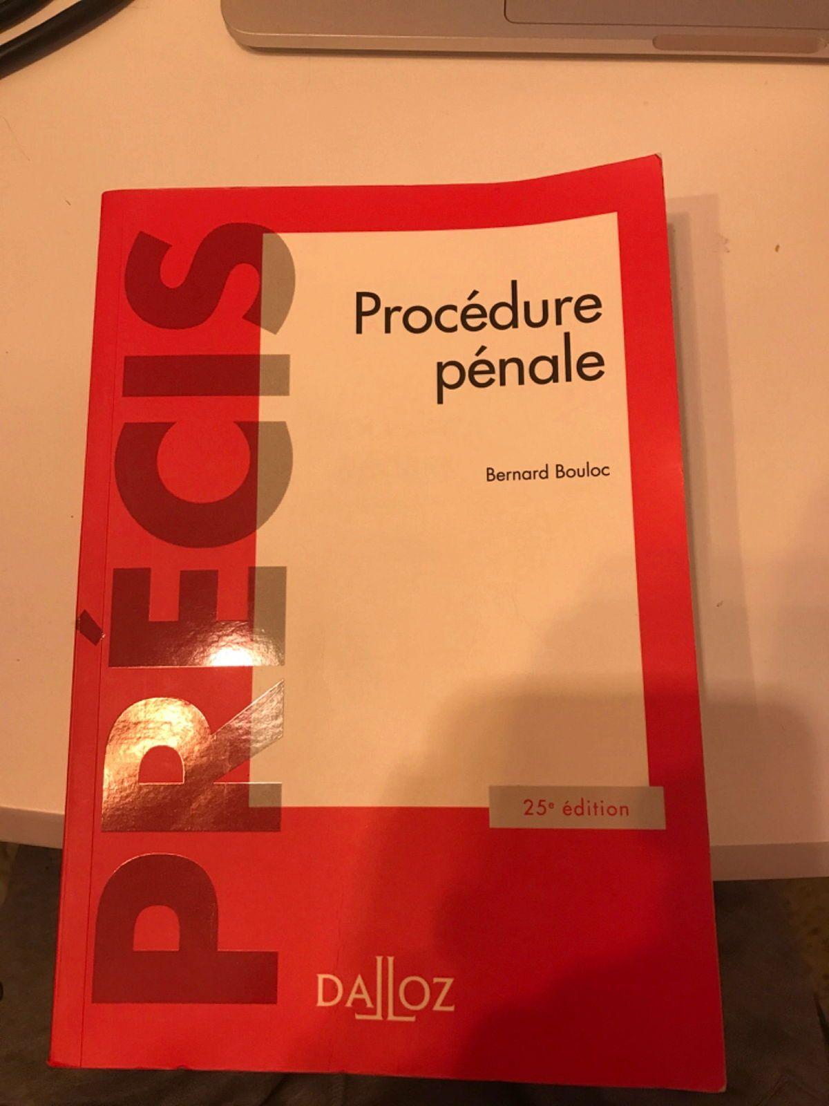 Vends manuel procédure pénale