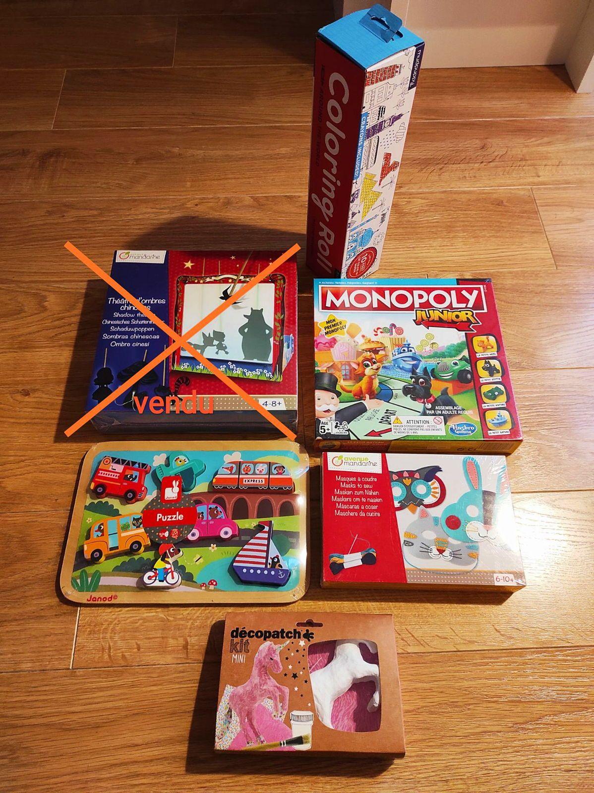 Vends jeux neufs tout âges