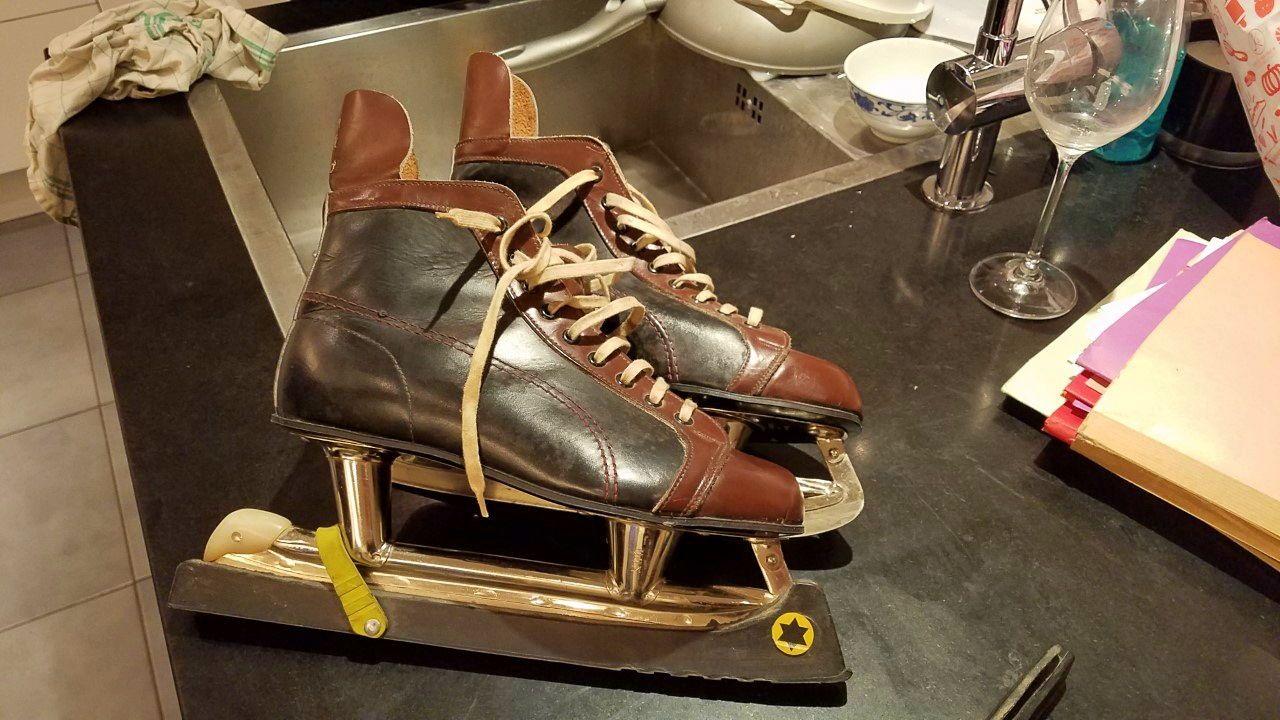 Vends patins à glace vintage taille 41lico