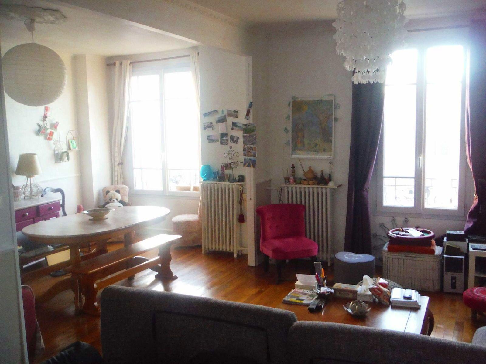 Vends appartement 2/3pièces 49m² à Mairie de Montreuil (93)