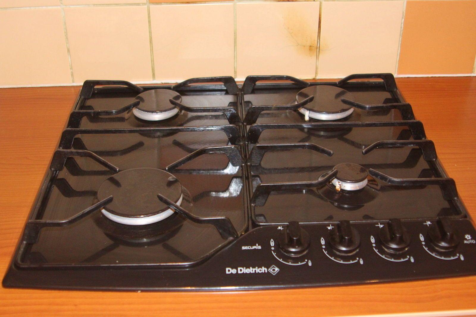 Vends Plaque de cuisson gaz 4feux DE DIETRICH
