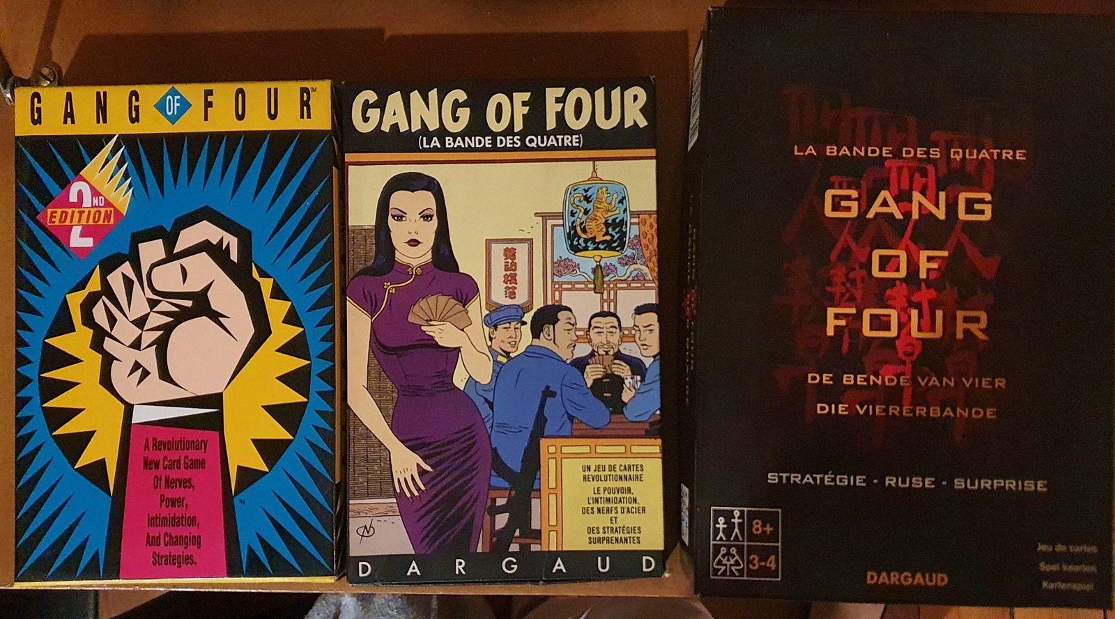 Vends 3jeux de société Gang of four