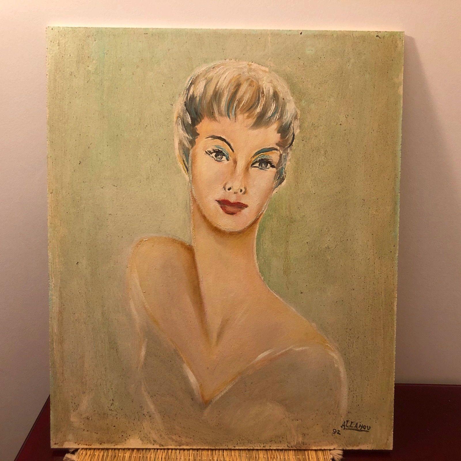 Vends tableau sur bois style année 50