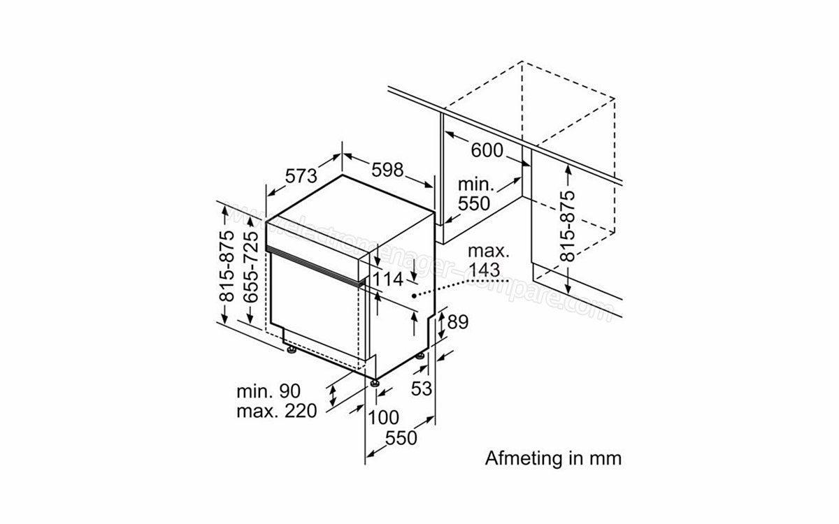 Lave-vaisselle 60cm Bosch SMI53N55EU Intégrable encastrable