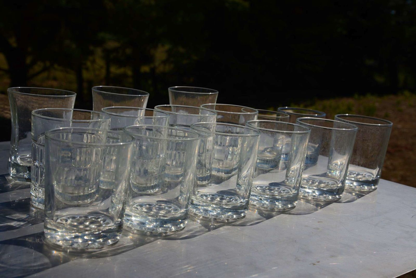 Lot de 15 verres à whisky