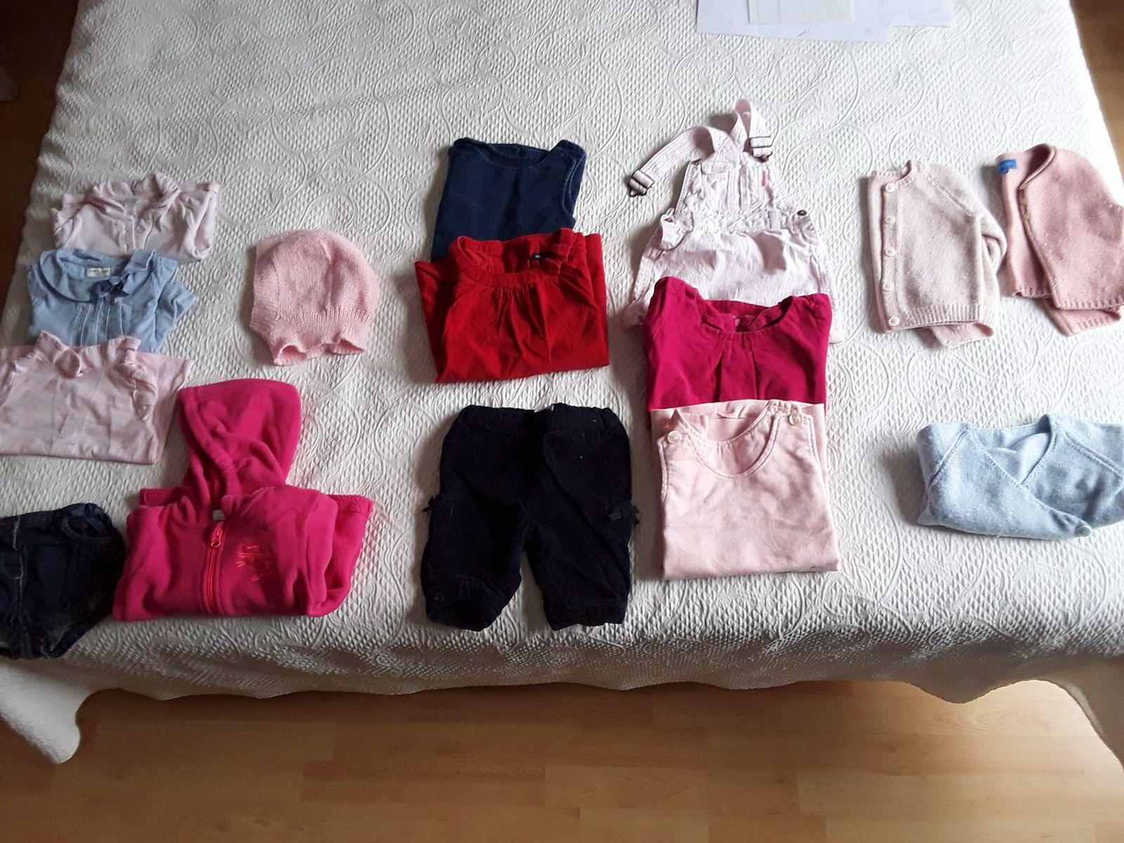 Lot vêtements hiver fille, taille 12mois