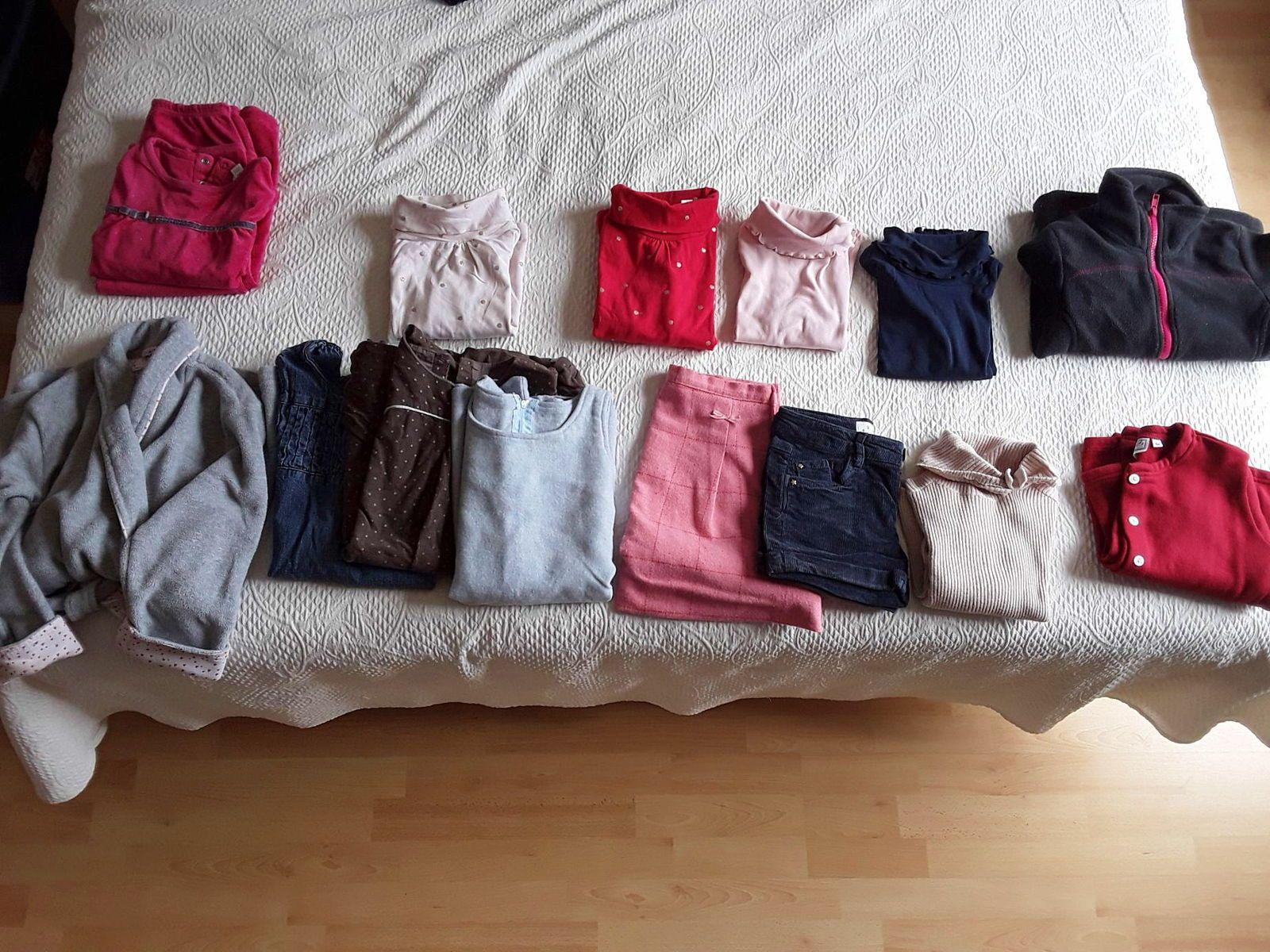 Lot vêtements hiver fille taille 5ans