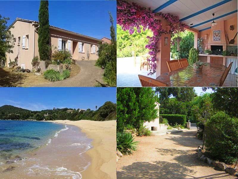 Loue villa confortable, plage à 200m, 20km sud Ajaccio - 5couchages